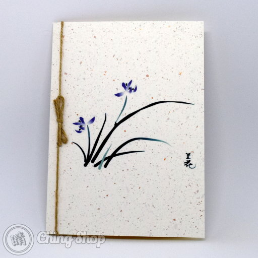Noble Orchid Handmade Card with Chinese Painting Design #981