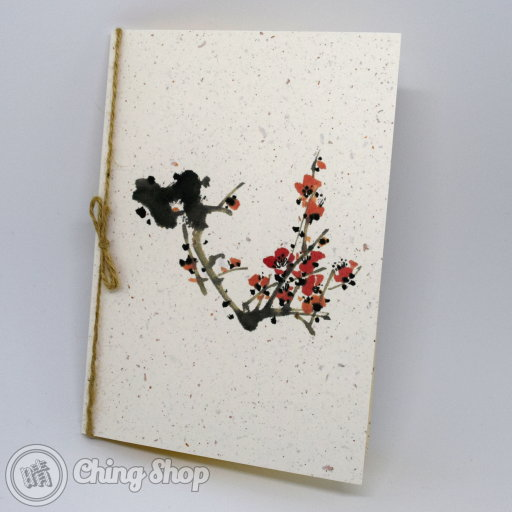 Winter Sweet Handmade Card with Chinese Painting Design #1000