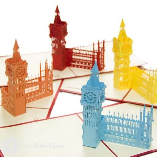 Big Ben Tower Handmade 3D Pop-Up Card #1457