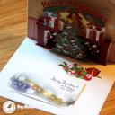 Colourful Christmas Hearth Handmade 3D Pop-Up Christmas Card #1796
