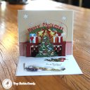 Colourful Christmas Hearth Handmade 3D Pop-Up Christmas Card #1797