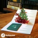 Colourful Rudolf & Christmas Tree Handmade 3D Pop-Up Christmas Card #1814