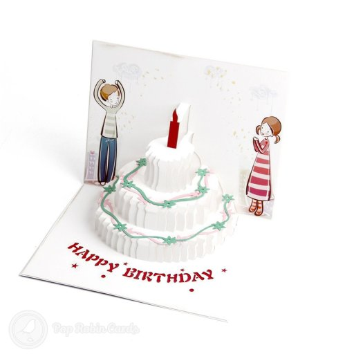 Embossed Fairy Birthday Party Handmade 3D Pop-Up Foil Card #1882