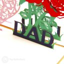 """i Love Dad"" Handmade 3D Pop-Up Father's Day Card #2048"