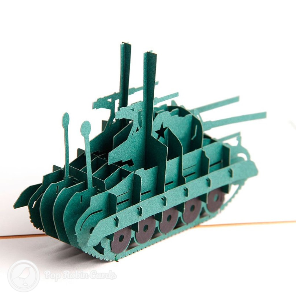 Army Tank 3D Pop Up Greeting Card 2042