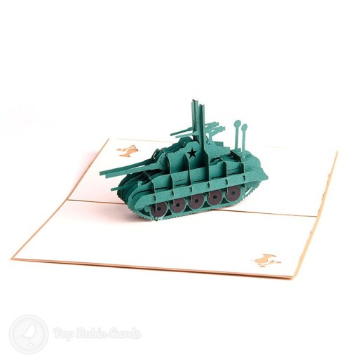 Army Tank 3D Pop Up Greeting Card 2044