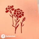 Basket Of Red Carnations 3D Handmade Pop Up Card #3807