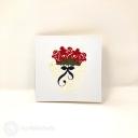 Basket Of Roses 3D Handmade Pop Up Card #3834