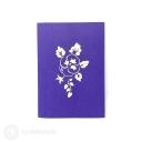 Basket Of Yellow Pansies 3D Pop Up Handmade Greetings Card #3809