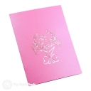 Beautiful Pink Daffodil Bouquet 3D Pop-Up Card #2789