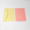 Beautiful Pink Daffodil Bouquet 3D Pop-Up Card #3874