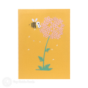 Busy Bumble Bee On Flower Handmade 3D Pop Up Card #3177