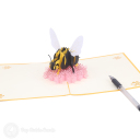 Busy Bumble Bee On Flower Handmade 3D Pop Up Card #3179