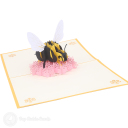Busy Bumble Bee On Flower Handmade 3D Pop Up Card #3180