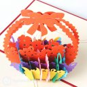 Best Wishes Flower Basket 3D Pop-Up Greetings Card 1847