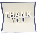 Big Thank You 3D Pop Up Card #3284