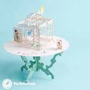 Birds Delivering Letters To Birdcage Handmade 3D Pop Up Card #2957