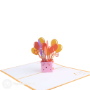 Box Of Balloons Handmade 3D Pop Up Card #3194