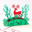 Bridge & Deer 3D Pop-Up Christmas Greetings Card 1730