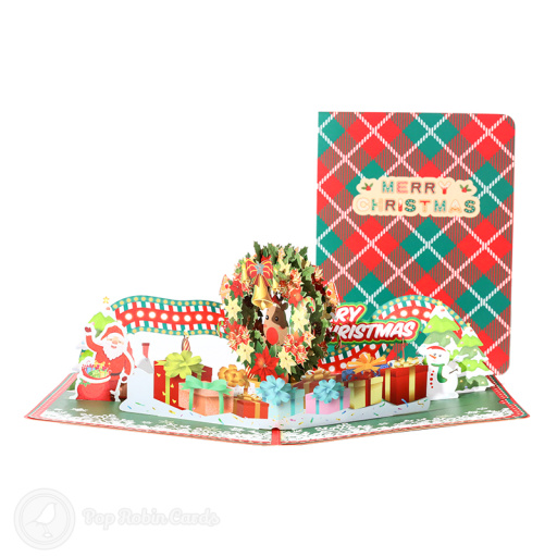 Bright & Cheery Christmas Scenery 3D Pop Up Christmas Card