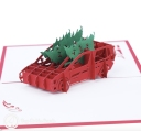 Bringing Home Christmas Trees 3D Pop Up Handmade Card #3545