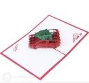 Bringing Home Christmas Trees 3D Pop Up Handmade Card #3546