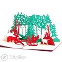 Busy Santa 3D Pop-Up Christmas Greetings Card 1088