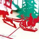 Busy Santa 3D Pop-Up Christmas Greetings Card 1089