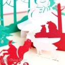 Busy Santa 3D Pop-Up Christmas Greetings Card 1090