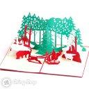 Busy Santa 3D Pop-Up Christmas Greetings Card 1091