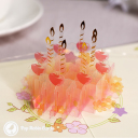 Candles & Apples Cake 3D Handmade Pop Up Birthday Card #3558
