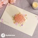 Candles & Apples Cake 3D Handmade Pop Up Card #3560