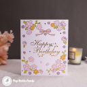 Candles & Apples Cake 3D Handmade Pop Up Card #3561
