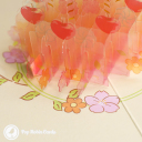Candles & Apples Cake 3D Handmade Pop Up Card #3562