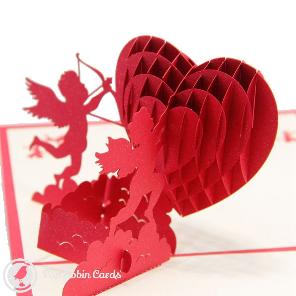 Cherub Love 3D Pop-Up Greetings Card (Standard) 1389
