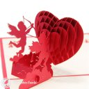 Cherub Love 3D Pop-Up Greetings Card (Standard) 1389