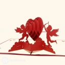 Cherub Love Handmade 3D Pop-Up Card #3865