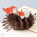 Chicks, Eggs & Birds Nest 3D Pop-Up Easter Card 1494