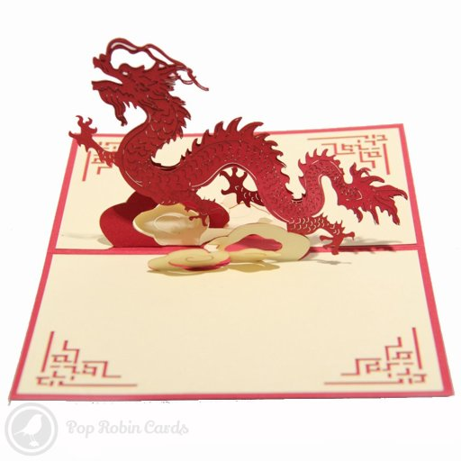 Chinese Dragon 3D Pop-Up Greeting Card 1305