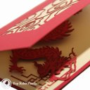 Chinese Dragon 3D Pop-Up Greeting Card 1306