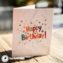 Chocolate Gateau Cake with Foil Candles 3D Pop Up Birthday Card 2021