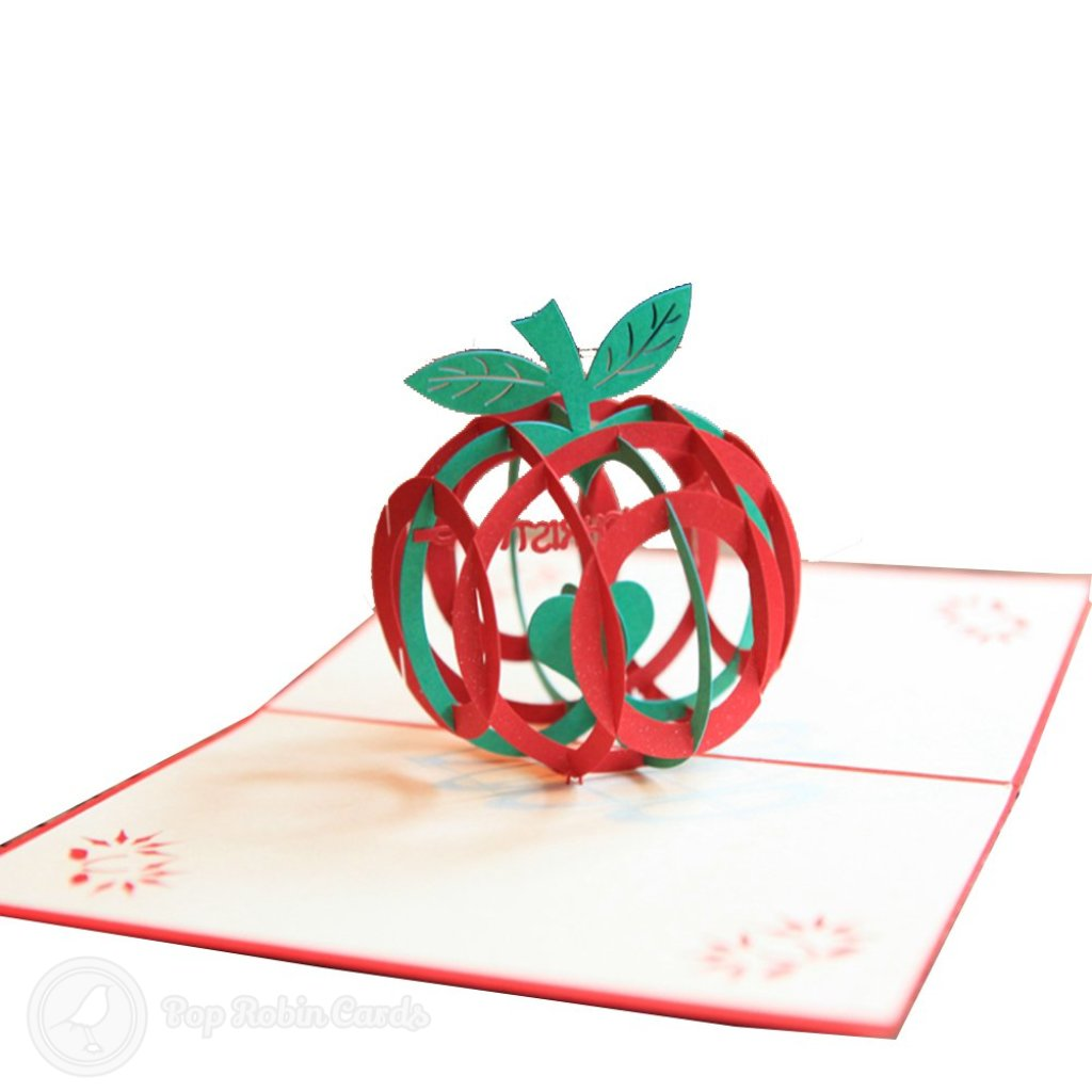 Christmas Apple 3d Pop Up Greetings Card 450 3d Pop Up