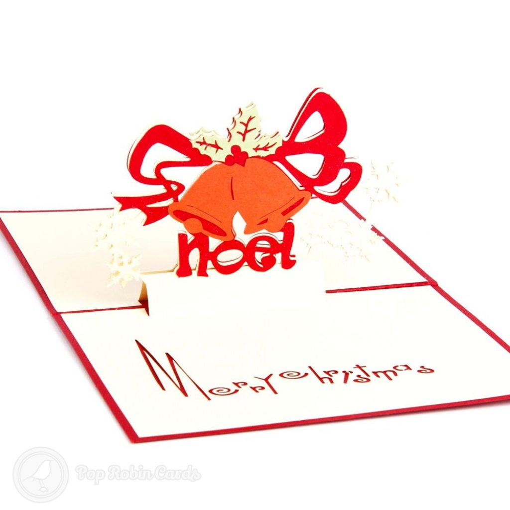 Christmas Bell 3D Pop-Up Greeting Card 1791