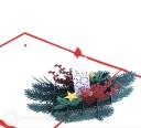 Christmas Candle & Holly 3D Pop Up Handmade Card #3542