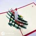 Christmas Candle & Holly 3D Pop Up Handmade Card #3617