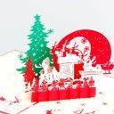 Christmas Eve Handmade 3D Pop-Up Card #2321