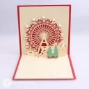Christmas Ferris Wheel 3D Pop Up Handmade Card #3517