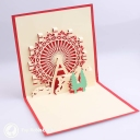 Christmas Ferris Wheel 3D Pop Up Handmade Card #3518