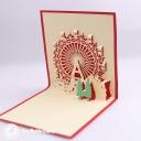 Christmas Ferris Wheel 3D Pop Up Handmade Card #3519
