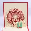 Christmas Ferris Wheel 3D Pop Up Handmade Card #3520